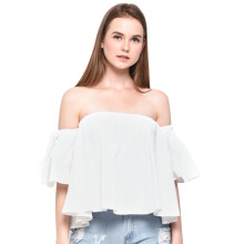LOOKBOUTIQUESTORE Will Sabrina Top - White