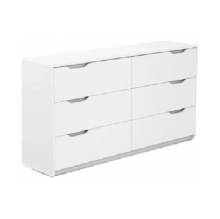 Ivaro - Queen Cool Chest 6 Drawers - White White big