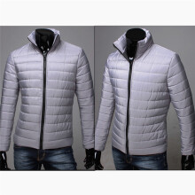 BESSKY Boys Men Warm Stand Collar Slim Winter Zip Coat Outwear Down Jacket _