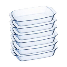 LUMINARC Piring Serveware Rectangular 35CM x 24CM J1340 Set of 6