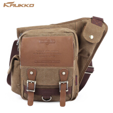 KAUKKO SG255 4L Men Microfiber Leather Business Style Sling Bag