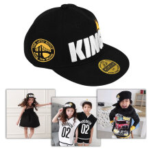Children Boys Girls King Letter Crown Baseball Cap Adjustable Brimmed Hats
