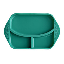 MARCUS & MARCUS Silicone Divided Plate - Ollie Elephant Green