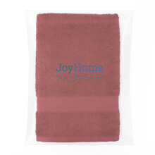 JOYHOME Bath Towel Two Stripe Border (70cm x 140cm) 450 Gsm - Maroon