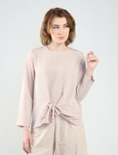 Rianty Basic Atasan Wanita Blouse Kyla - Cream Creme All Size