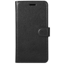 Solid Color Wallet Flip PU Leather Case for Redmi Note 4X Black