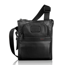 TUMI Alpha 2 Pocket Bag Small Leather Black [092110D2]