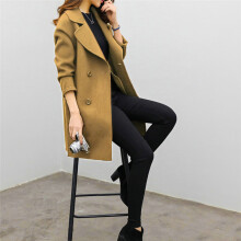 BESSKY Womens Autumn Winter Jacket Casual Outwear Parka Cardigan Slim Coat Overcoat_