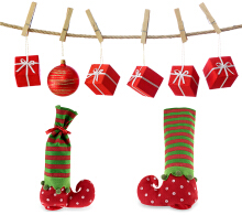 1pc Christmas Cute Sock Candy Storage Bag