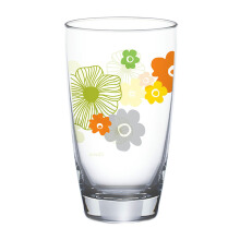 [FG]OCEAN Flora Refreshing Drink Glass 2 pcs - Amber - 465 ml