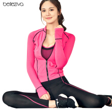 BELLEZIVA Woman Sports Jacket Quick-dry Breathable Long-sleeved Activewear for Yoga Running Workouts