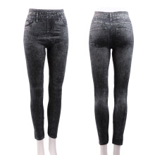 Women Stretch Denim Jean Look Skinny Leggings Slim Jeggings Tight Pants
