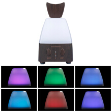 Excelvan Essential Oil Aroma Diffuser Ultrasonic Humidifier Air Mist Aromatherapy Purifier Dark Woodgrain GX-04K EU