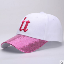 BAI B-256 Adjustable Baseball Cap MBL Hiphop cap with U design White&Pink color