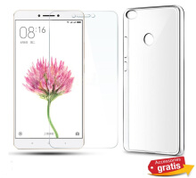 XIAOMI MI MAX 2in1 Tempered Glass + Soft Case Transparan