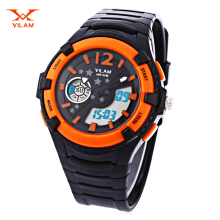 VILAM 14003S Dual Movt Digital Quartz Sports Watch Calendar Alarm Chronograph Display Wristwatch
