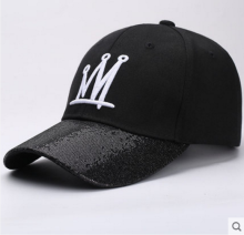 BAI B-281 Adjustable Baseball Cap MBL Hiphop cap with CROWN design Black&White color