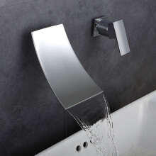 LANGFAN J4833 Chorme Surface Waterfall Bathtub Sink Hot & Cold Water Faucet