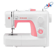 SINGER 3210 Simple Mesin Jahit Portable - Putih-Pink