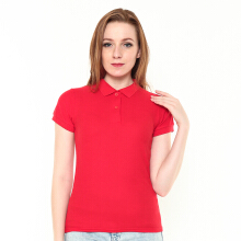 STYLEBASICS Ladies Basic Polo Shirt - Red