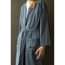 SHOP AT VELVET Revel In Nostalgia Nocturnal Kimono Blue Stripe - Blue [All Size]