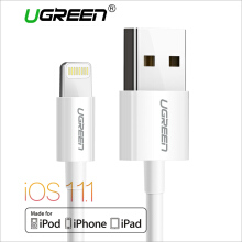 UGREEN 2Meter Lightning Cable, Lightning to USB Data Sync Cable -White
