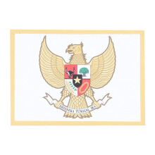 Tactical Series Velcro Patch 9 x 6.5 cm - Garuda Pancasila - White Yellow