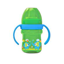 BABY SAFE Cup with Silicone Spout 125ml - Green Elephant