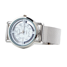 Women Lady Fashion Stainless Steel Mesh Analog Bracelet Wrist Watch