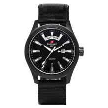 SWISS NAVY Man Casual Black Dial Black Nylon Strap [8808MABWHBK]