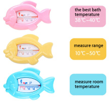 Cute Baby Bathe Water Thermometer Dual-use for Room(Blue)