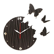 NAIL YOUR ART Butterfly Black Wall Clock/30x30Cm