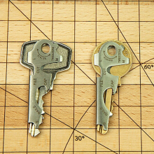 TRUE UTILITY - Keytool TU47 Pocket Key Ring Accessory Multi-Tool Silver