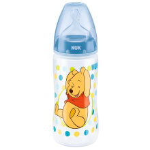 NUK Disney Winnie The Pooh Bottle with Silicone - Blue - 300ml