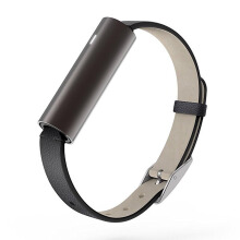 MISFIT Ray Carbon Black Wearables Black Leather Band La Unisex [S515BM0BD]