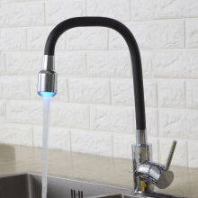 LANGFAN J6210 LED Black Color Kitchen Sink Flexible Faucet