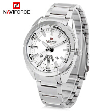 Naviforce NF9038M Male Quartz Watch Date Day Display 3ATM Stainless Steel Band Wristwatch