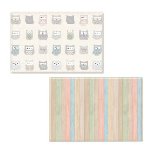 COBYHAUS PVC Playmat Cotton Owl + Dual Wood 190 x 130 x 1,2 cm