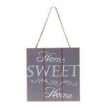 BLOOM & BLOSSOM Wooden Wall Poster - Home Sweet Home / Grey