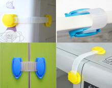 9cm 10pcs Baby Safe Latch Lock for Cupboard Wardrobe Fridge Door(Blue)
