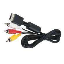 Black 6 Ft Audio Video AV Cable to RCA For PlayStation PS / PS2 / PS3