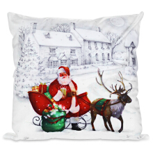 Christmas Style Printed Pillowcase Sofa Cushion Cover