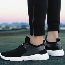 BESSKY Fashion Men's Straps Sports Running Casual Sneakers Solid Shoes_