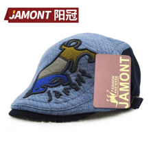 JAMONT Autumn Winter Cartoon Animal Printed Children Boys Girls Beret Cap Hat