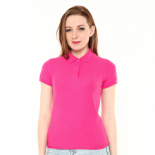 STYLEBASICS Ladies Basic Polo Shirt - Heliconia Pink