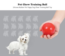 Pet Dog Bite-resistant Non-toxic Odorless Rubber Chew Ball Toy