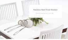 Multifunctional Stainless Steel Food Strainer Filter Oil Removal Kitchen Accessory SILVER SMALL SIZE