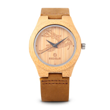 REDEAR 1448L Women Quartz Wooden Watch