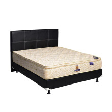 UNILAND Simphony Single Pillowtop Springbed Size 140 x 200 HB Elegance - Full Set - Putih