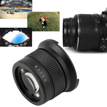 0.35X58MM Camera Super HD Wide Angle Fisheye Lens With Macro for Canon EOS